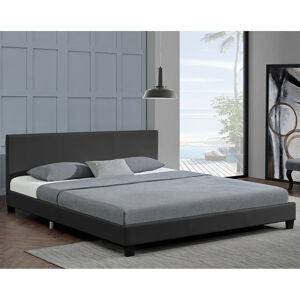 """Čalouněná postel,, Barcelona """"140 x 200 cm - tmavě šedá"""