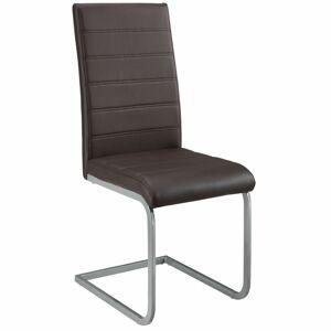 Konzolová židle  Vegas sada 2 kusů, syntetická kůže, v hnědé barvě