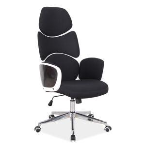 Kancelářská židle Q-888 černý materiál/biely rám