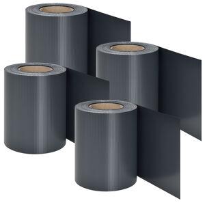 PVC ochranný pás 4 kusy - antracitová